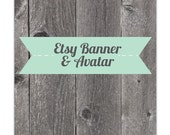 Wood and Banner Etsy Banner and Avatar Set