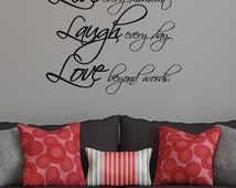 Live Laugh Love Wall Quote Decal Art