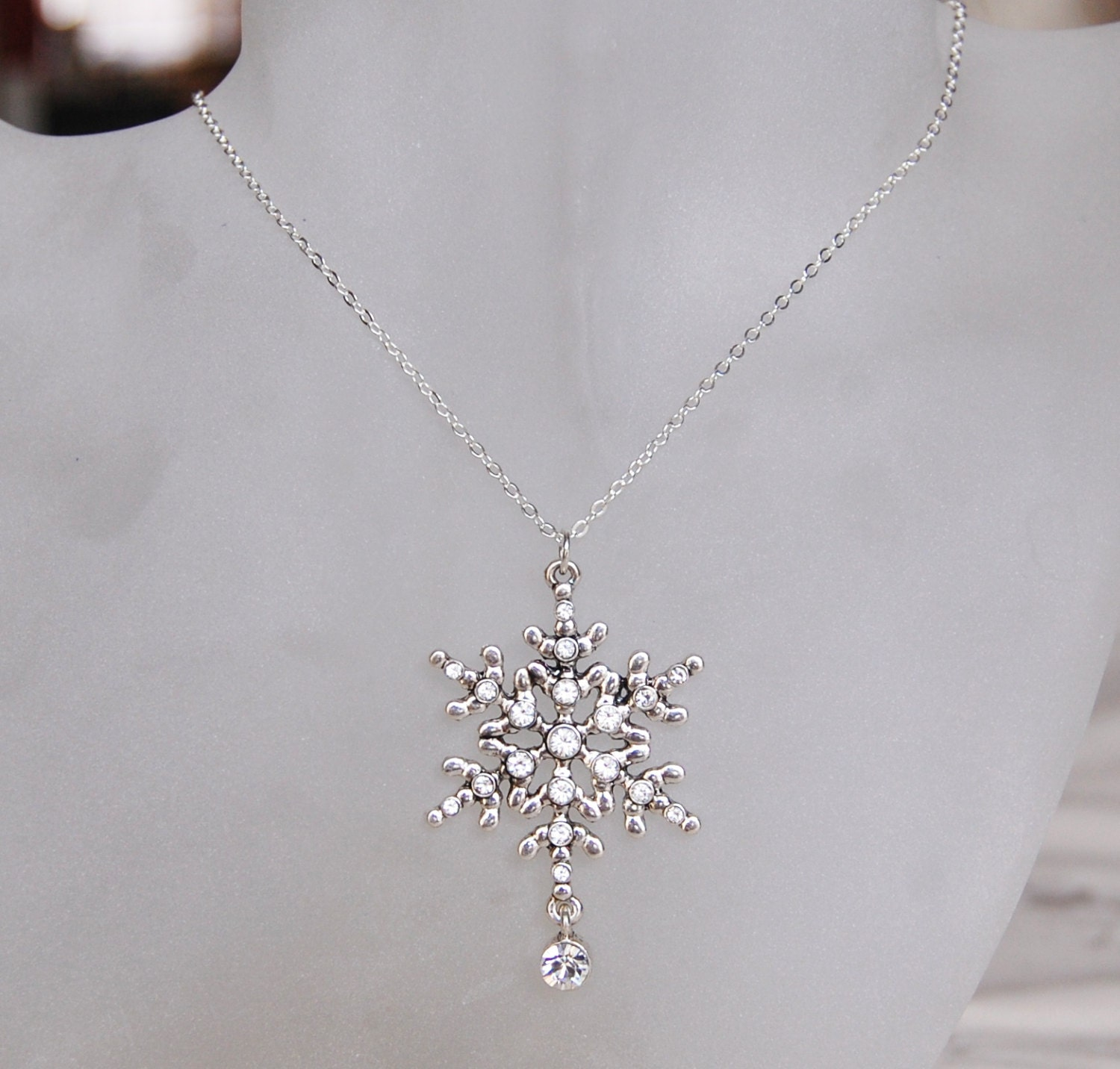 swarovski snowflake earrings snowflake necklace swarovski snowflake pendant 7350