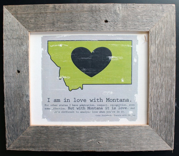 Montana LOVE State Map Canvas with John by WarbleswithBella