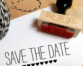 Save The Date Stamp with Hearts