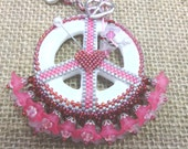 50% off ENTIRE purchase! Use coupon- BYE2016 at checkout. Love & Peace woven beaded pendant pattern tutorial