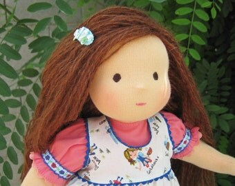 Waldorf doll -Pauline-15 inches, custom dolls for children , daughter of a gift