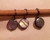 Natural Shell handmade stitch markers for knitting (Qty 12)