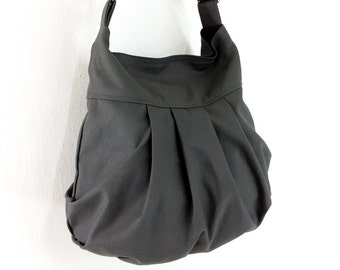 Handbags Cotton bag Canvas Bag Diaper bag Shoulder bag Hobo bag Tote bag Messenger bag Purse Everyday bag  Dark Gray  Tracy2