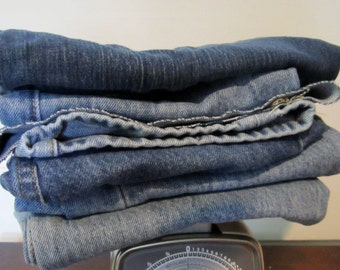 Just Pay Shipping!  1lb Denim Scraps