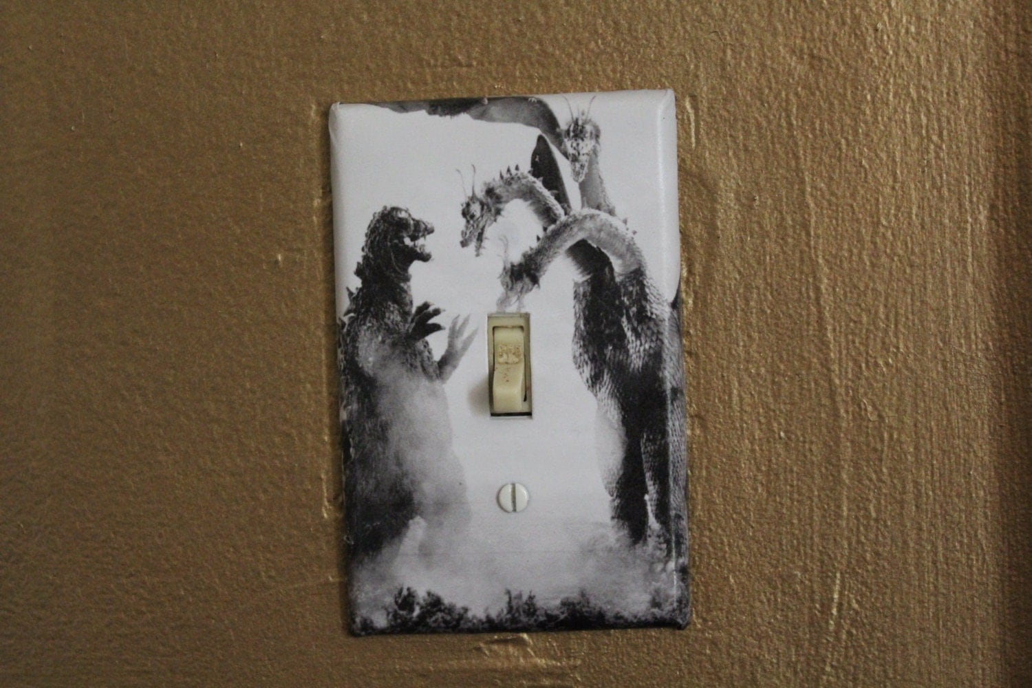 decorative light switch covers godzilla decorative light switch cover plate by btpart on etsy 11068