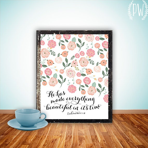 Wall Decor With Bible Verses : Bible verse art print printable wall decor by printablewisdom