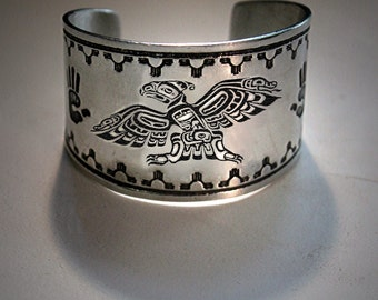 Native American jewelry, Thunderbird Cuff Bracelet, native inspired