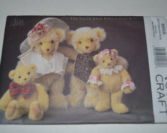 """Vogue 5958 """"The Vogue BEar Family""""  Sewing Pattern -  UNCUT"""