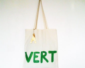 Vert Green Eco Organic Natural TOTE Bag / Eve Damon