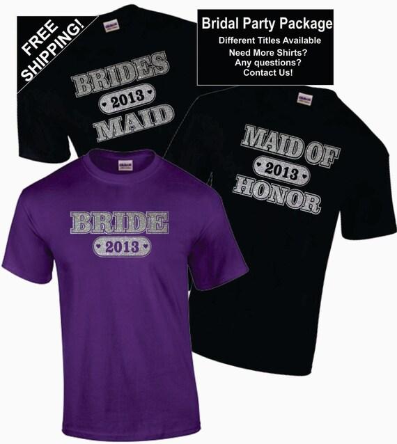 Items Similar To 4 Bridal Bachelorette Party Shirts