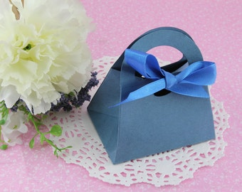 "50 Gift Bag 3.25"" x 2.25"" Favor Box w/ Bow. Wedding, Bridal Shower, Baby Shower, Party Favor Gift."