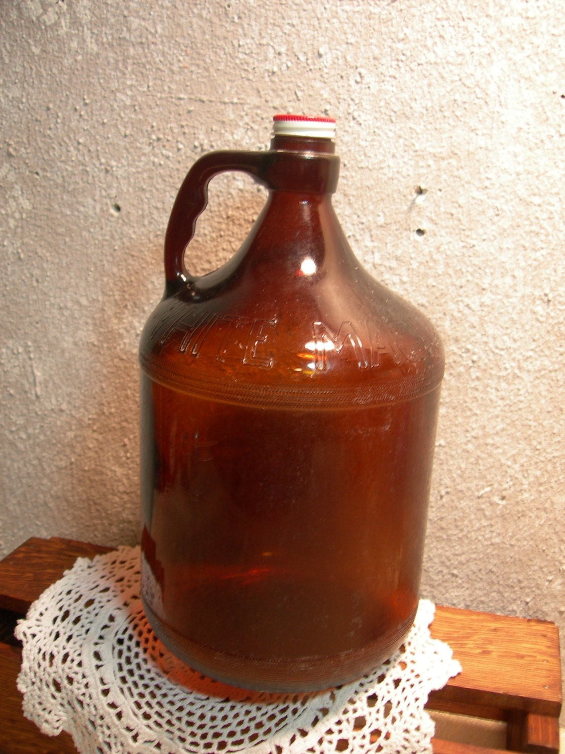 White Magic Brown One Gallon 1950 S Bleach Bottle