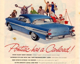 1957 Pontiac Vintage Ad from Saturday Evening Post