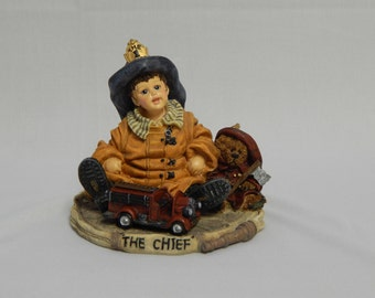 "Fire Chief Figurine, Yesterday's Child ""I Wanna Be Series, The Chief"" Limited Edition Collectible"