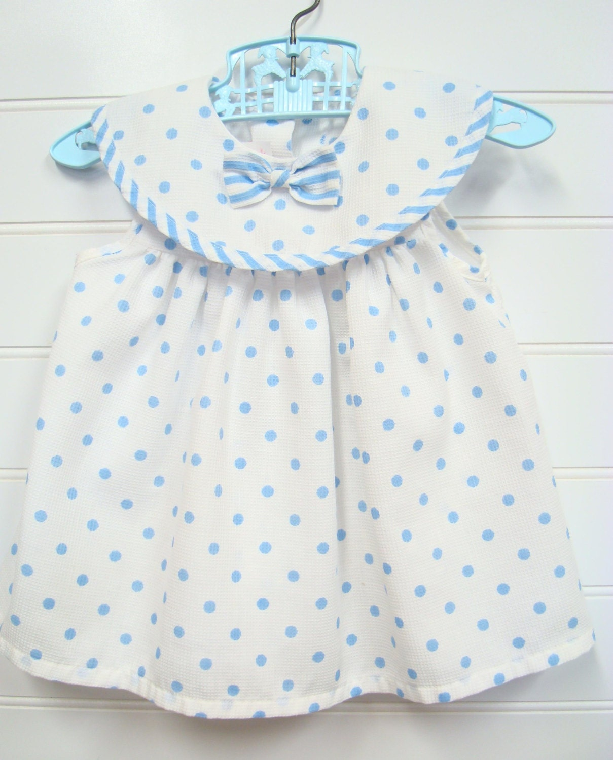 Vintage Baby Clothes Baby Girl Dress In White by