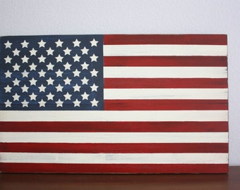American Flag - American flag wood sign - Patriotic Decor - Fourth of July - Flag Wood Sign - Independence Day Decor