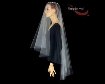 70 inch Drop Veil, Cut Edge