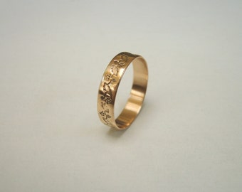 Gold Berries Antique Ring