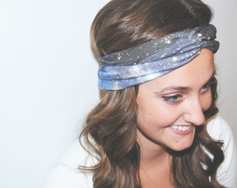 Blue Okda - Galaxy Turban Headband