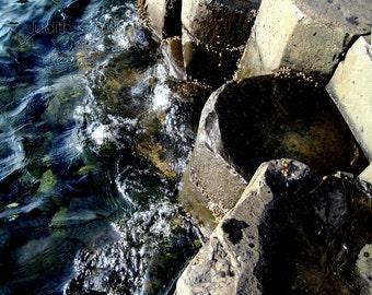 Ocean Photography - Giant's Causeway Fine Art Photograph - Northern Ireland - Travel Photography - 8x10