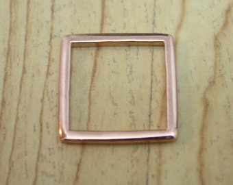 Square Ring Rose Gold 18K Plated or Yellow Gold 18K Plated Size 6.5