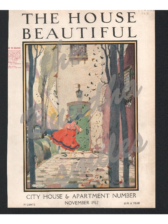 Original House Beautiful magazine cover November 1917