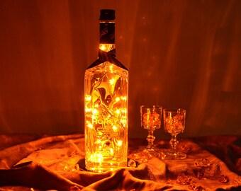 Wild Turkey American Honey Light Up Liquor Bottle - Lighted Decorated Bottle / Lamp / Bar / Party / Night Light