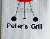 Grill Personalized Kitchen Towel: MADE TO ORDER