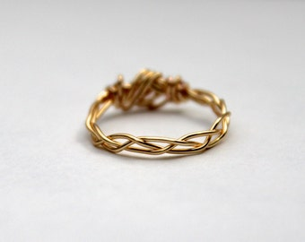 Stackable Ring - Braided Gold