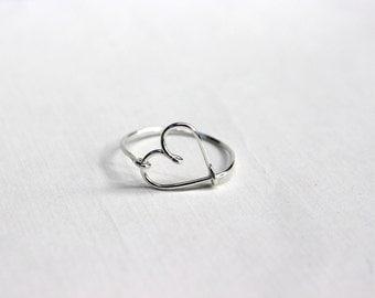 Sterling Silver Heart Ring, heart ring, heart rings, silver heart ring, silver heart rings