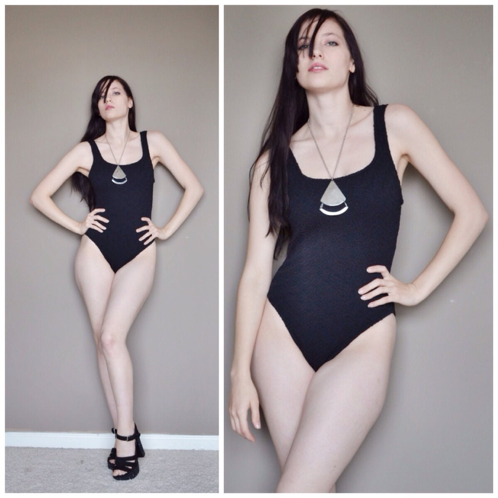 Vintage 1990s one piece swimsuit bathing by trendypantsvintage