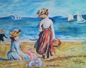 Popular Items For Figures On The Beach On Etsy