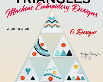 Triangles Machine Embroidery Designs Shapes Geometrical Embroidery Designs