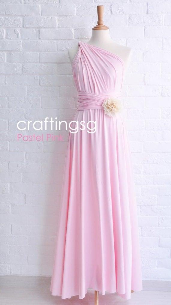 Bridesmaid Dress Infinity Dress Pastel Pink By Thepeppystudio