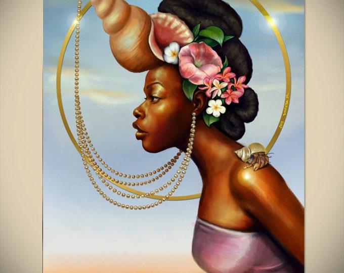 cosmic black woman goddess african american art
