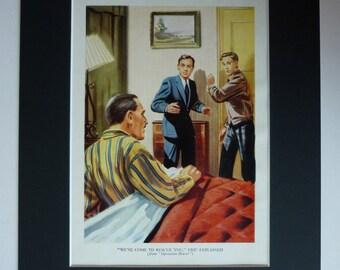 Vintage 1940s Boys' Adventure Print - 1940s Decor - Retro Illustration - Pulp Art Print - Operation Beaver - Eric - Pulp Fiction Artwork