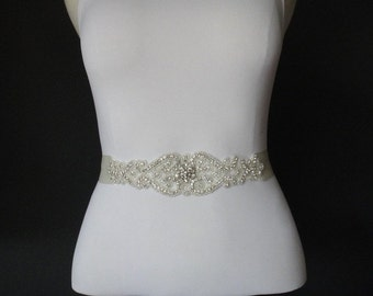 Bridal Belt, Bridal Sash, Bridal Sash Belt, Crystal Bridal Sash, Rhinestone Bridal Belt, Beaded Bridal Belt, Swarovski Crystal bridal Belt