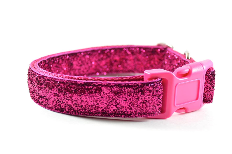 Glitter Dog Collar Pink