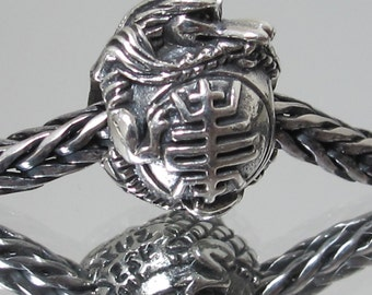 Longevity Dragon silver charm