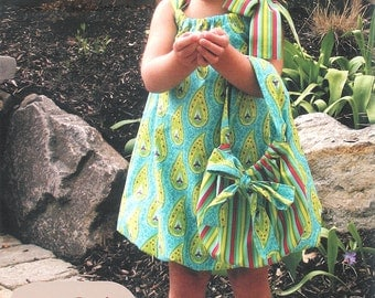 Pattern - Bow Babe - Bubble Dress & Purse Paper Sewing Pattern by Olive Ann Designs (OAD67)