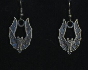 Bronze Bat Earrings