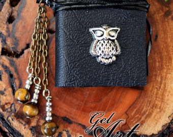 Little Black Book Pendant - Owl
