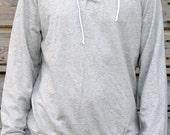 White stars on dark blue cotton hoodie sweatshirt-fleece original and unique - unisex