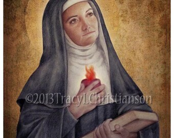 St. Gertrude the Great Art Print Catholic Patron Saint #4093