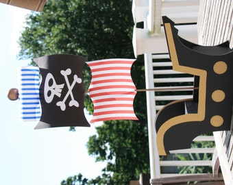 Black & Gold Pirate Ship Centerpiece or Cake Pop Display
