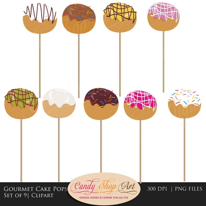 Cake Pop Clipart Free : Gourmet Cake Pops Clip Art Cake Pop Clipart Cake Pop