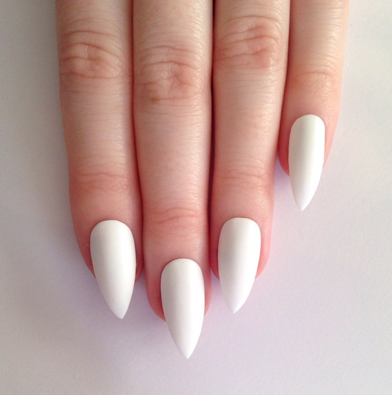 Matte White Stiletto nails  Nail designs  Nail art  Nails  Stiletto    White Matte Nails