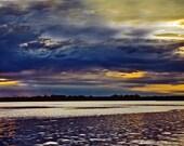 Sunset lake Picture, Upper Peninsula of Michigan Landscape Photography, Surreal Wall Art Print Country Inland Lake Water Scenic Photo